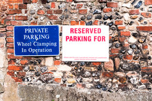 Private Parking Sign Close Up ...