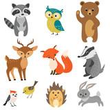 Fototapeta Fototapety na ścianę do pokoju dziecięcego - Cute forest animals
