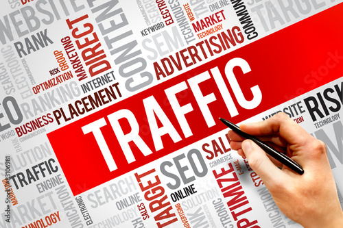 Photo  TRAFFIC word cloud, business concept