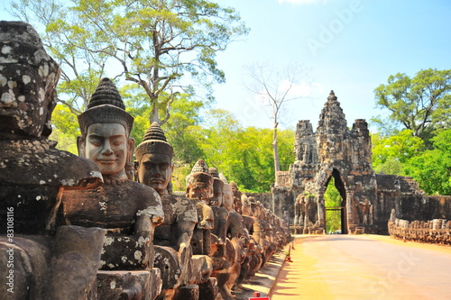 Stone Gate of Angkor Thom in Cambodia Wallpaper Mural