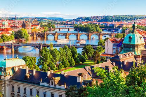 Fototapeta Praga panorama-pragi-z-lotu-ptaka