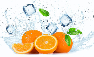 FototapetaOranges with Water splashes