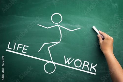 Work and life balance concept Poster
