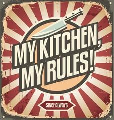 Fototapeta Vintage Vintage kitchen sign