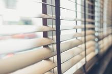 Venetian Blinds By The Window