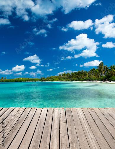 Deurstickers Tropical strand tropical sea