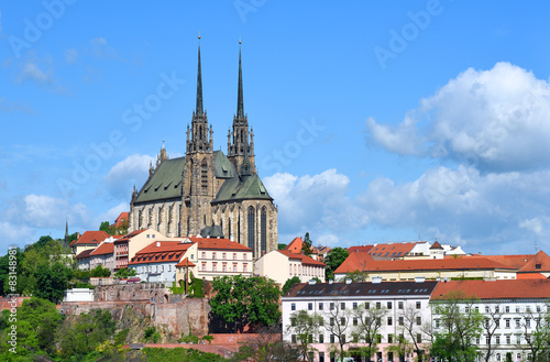 фотография  Cathedral of Saints Peter and Paul in Brno in the Czech Republic