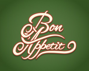 Bon Appetit calligraphic le...