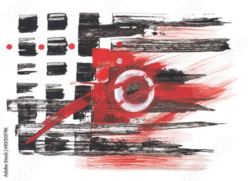 czarno-czerwona-abstrakcyjna-grafika-na-bialym-tle