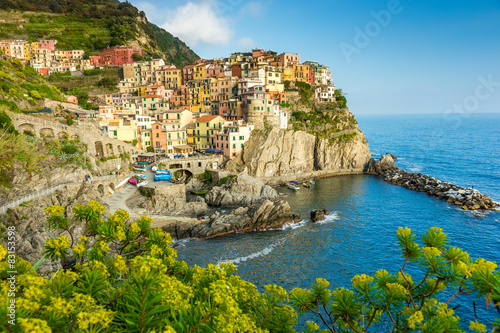 Fototapeta Town on the rocks Cinque Terre Liguria Italy obraz