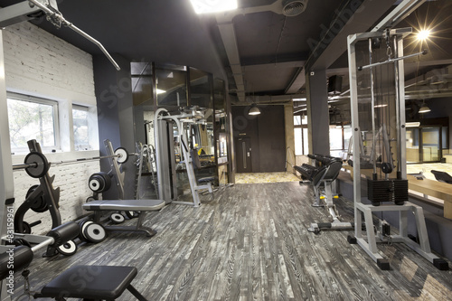 Poster Fitness Modern gym interior