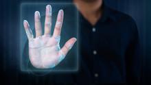 Futuristic Fingerprint Scanning Device Biometric Security System