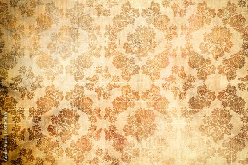 stary-papier-z-kwiatowymi-wzorami