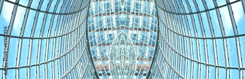 Photo Architectural detail of modern roof structure