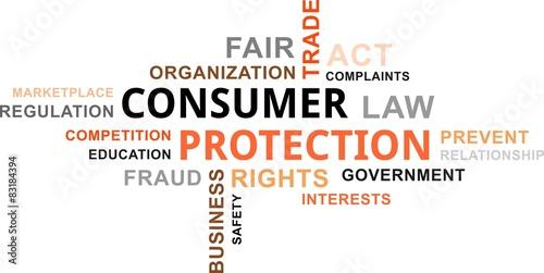 Fotografía  word cloud - consumer protection