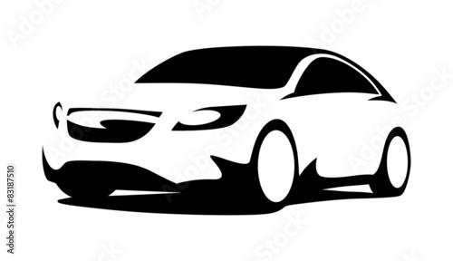 Car silhouette modern