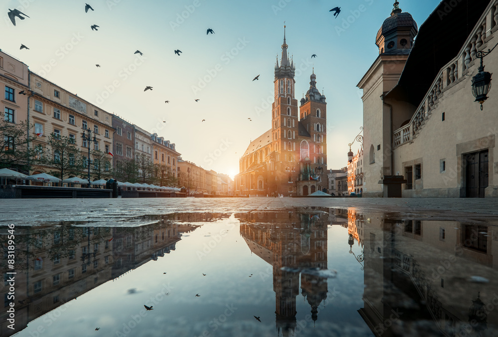 Fototapety, obrazy: Krakow Market Square
