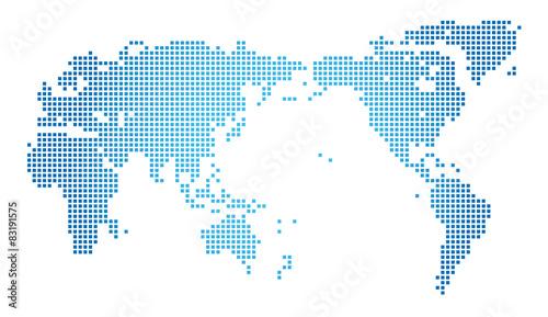 Photo Stands World Map 世界地図・ドット・グローバル・ネットワークイメージ・World map of dots Vector
