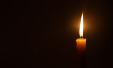 Candle Light In Darkness  As L...