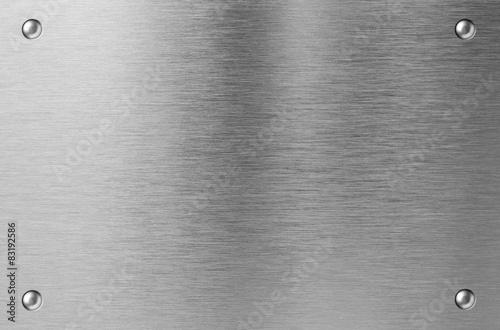 Türaufkleber Metall stainless steel metal plate with rivets
