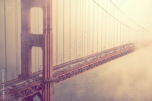 Golden Gate Bridge Traffic Canvas