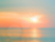 Blurred nature background. Sandy beach backdrop with turquoise w