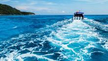 Boat Wake Prop Wash In Clear B...