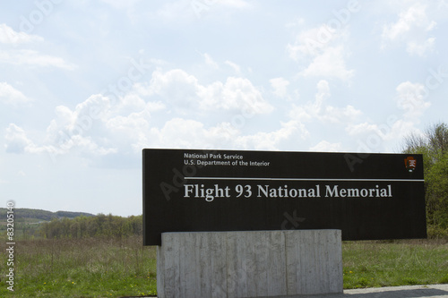 Fotografie, Obraz  Flight 93 National Memorial sign