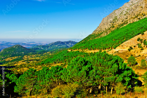 Keuken foto achterwand Groene Mountains
