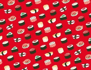 Fototapeta Sushi Sushi seamless pattern
