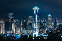 View Of The Seattle Skyline At...