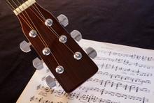 Guitar Headstock And Guitar Sheet Music