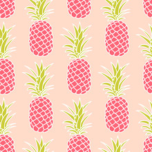 Abstract Seamless Pineapple Pattern.vector Illustration.