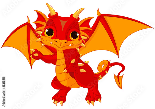Printed kitchen splashbacks Fairytale World Baby dragon