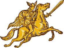 Valkyrie Warrior Riding Horse ...