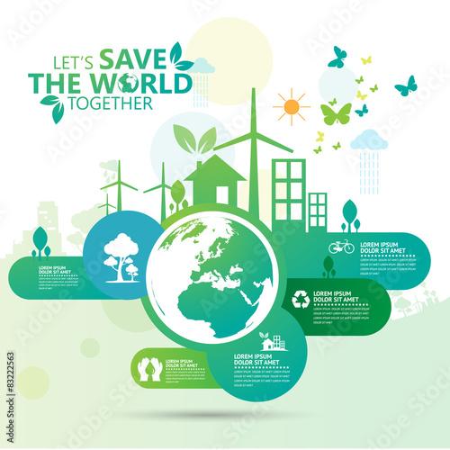 Fotografie, Obraz  save the world