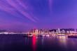 twilight on Causeway Bay Typhoon Shelter, Hong Kong.