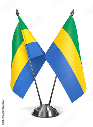 Fotografie, Obraz  Gabon - Miniature Flags.