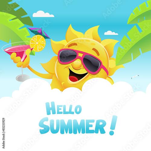 Stampa su Tela  Hello Summer
