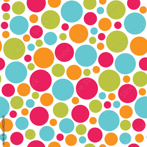 Plakat bezszwowe tło wektor wzór kolorowe kropki