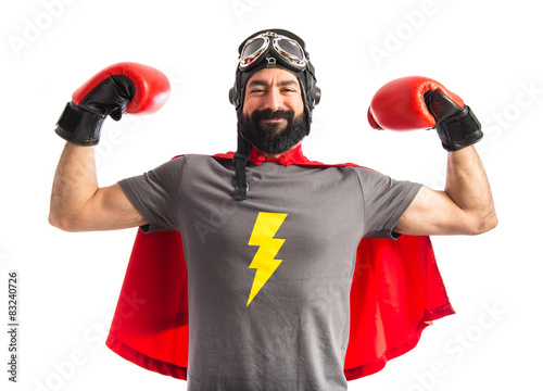 Fotografía  Strong super hero