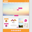 Flat Colorful Website Template Vector Design