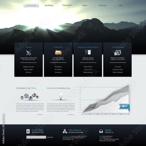 Cuadros en Lienzo Modern  Website Template Vector Eps 10