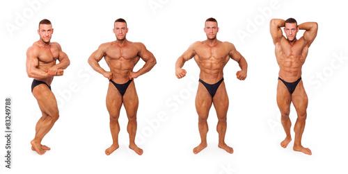 Fotografie, Obraz  Sexy shirtless bodybuilder posing.
