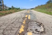Damaged Roadway - Yokohl Drive In California