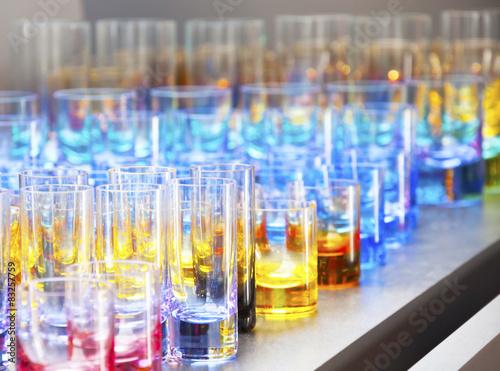 Fotografie, Obraz  Set of beautiful colored glass