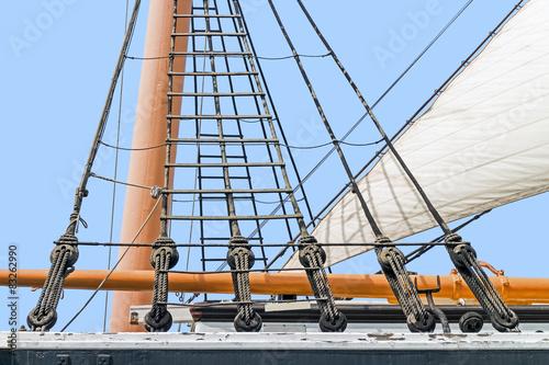 Keuken foto achterwand Schip Tall ship rigging detail