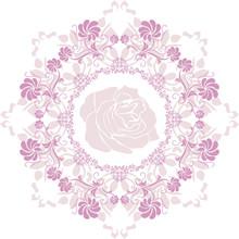 Ornamental Purple Circular Element