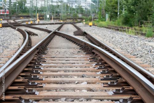 Spoed Foto op Canvas Spoorlijn Streik leere Gleise