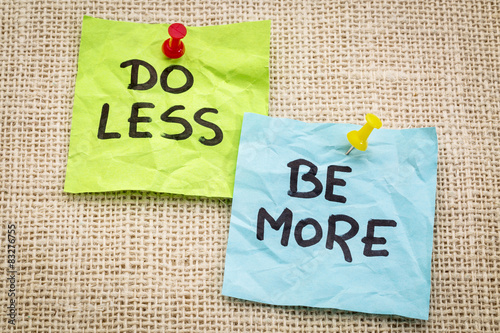 Photo  do less be more motivation